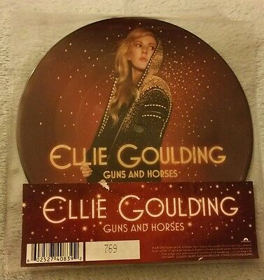 """Ellie Goulding 7"""" Guns And Horses Picture Disc Vinyl Rare! Ltd! Numbered 769!"""