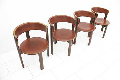 Set of Four Cassina Dining Room Chairs, Italy 1970s