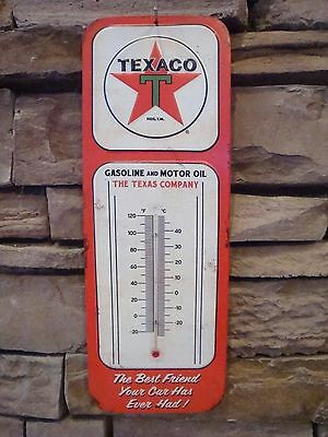 Vintage Retro Style Texaco Thermometer Sign Garage Oil Gas Man Cave Bar NEW