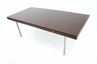 Large executive Writing Desk by Florence Knoll Model 872, Rosewood & Metal 1960s