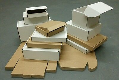 Postal Cardboard Boxes Small Mailing Shipping Cartons White and Brown