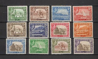 Aden. 1939. Set to 10Rp's but excluding 2Rp. MH/MLH. See notes.