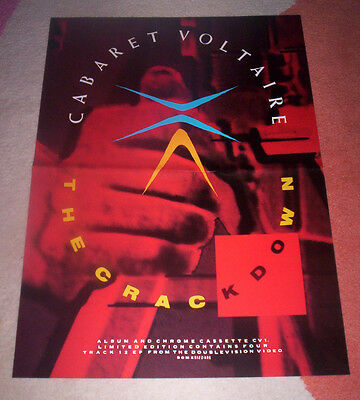 CABARET VOLTAIRE~ THE CRACKDOWN. Orig 1983 UK promo POSTER. A3 (30X42 cms).