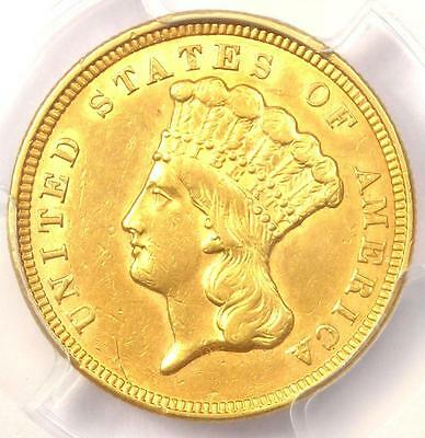 1856 Three Dollar Indian Gold Piece $3 - Certified PCGS AU Details - Rare Coin!