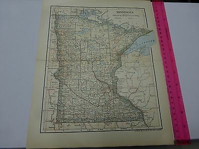 1891 & 1903 Map of Minnesota