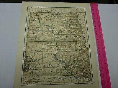 1891 & 1903 Map of North & South Dakota