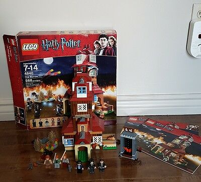 LEGO Harry Potter The Burrow 4840 100% Complete Box Instructions Minifigures