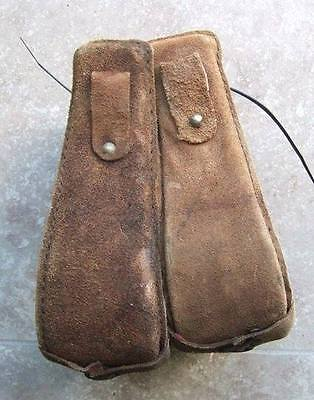 Rough Out Training Suede Leather Western Saddle Stirrups Bell Trail Riding Cow