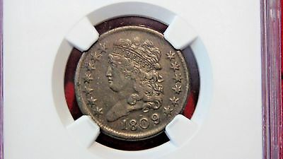 1809/6 1/2c NGC XF40 Half Cent (Lowest price on eBay as of 6/9/17!!)