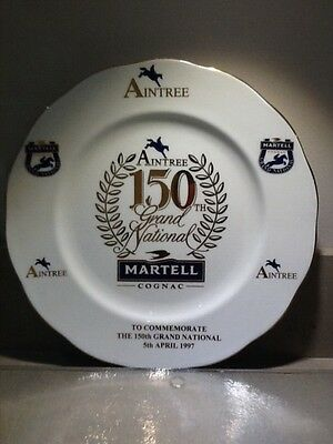 'MARTELL'' BONE CHINA PLATE, TO COMMEMORATE THE 150th AINTREE GRAND NATIONAL