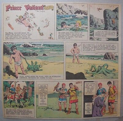 Prince Valiant Sunday by Hal Foster from 1/9/1972 2/3 Full Page Size