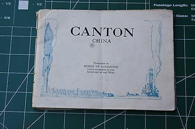 Pre WW2 1921 China Canton US Navy Bureau of Navigation Book 56 Pages with Map