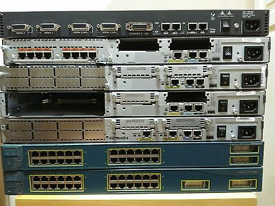LAB CISCO 4xRouter Cisco 2xSwitch Catalyst CCNA CCNP Cables Ethernet Lab Starter
