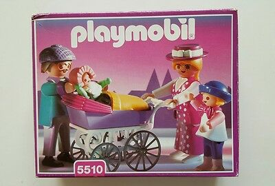 NEW  Playmobil 5510 Victorian Family with Baby Carriage Set