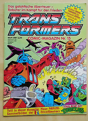 Transformers  G1 German Comic Magazin issue 15 - Crazy cover! Powermasters!