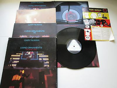 """GARY NUMAN RARE """"LIVING ORNAMENTS '79 AND '80"""" BOXED SET COMPLETE, merchandise s"""