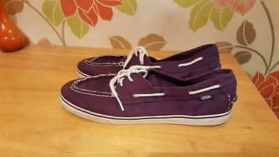 b825a79b620e64 VANS Zapato On Lo Pro Purple Moccasin Deck Boat Lightweight Mens Shoes Size  8