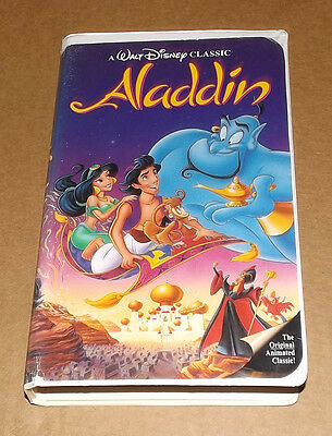 Aladdin vhs video Walt Disney Black Diamond Classic 1993 stock #1662