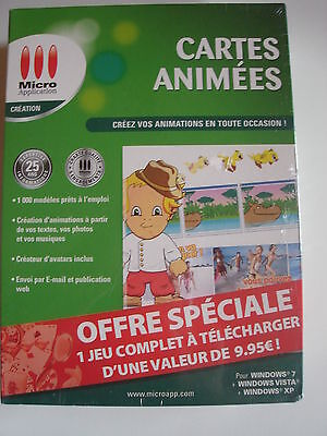 PC CD-ROM CARTES ANIMEES Créez vos animations neuf