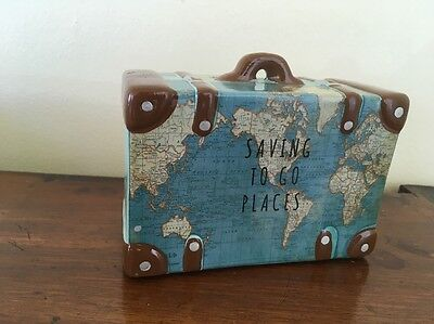 Saving To Go Places Trunk Suitcase Money Pot Box Shabby Chic Sass And Belle Gift