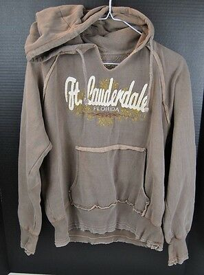 Fort Ft Lauderdale U.s. Vintage  Hoodie Hooded Sweatshirt Youth Size Large