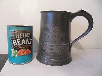 James Yates Quart Antique Pewter Tankard