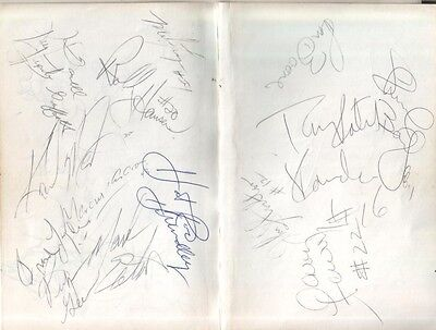 (2) 1986 Utah Jazz Autographed Pages by 16 w/ John Stockton & Karl Malone