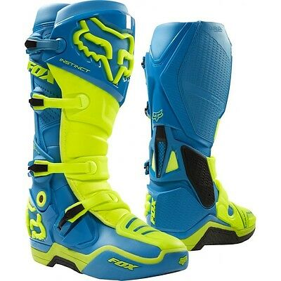 Fox Instinct stivali cross mx boots us11 Limited Edition Teal Crf Rmz Yzf Kxf