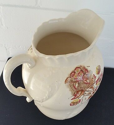 A Rare Hall Basin water jug No 239418 poppy style English W&R MEIGH