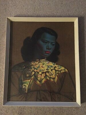 Vladimir Tretchikoff Green Lady AKA The Chinese Girl Rare Framed Art Print 1960s
