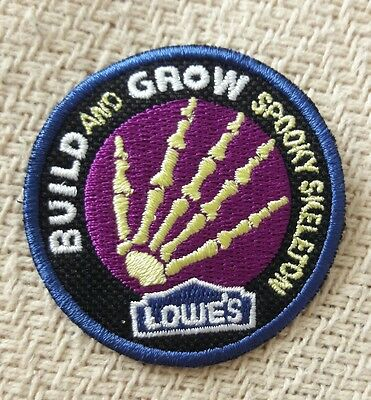 """SPOOKY SKELETON"" LOWES Build and Grow Kids Patch"