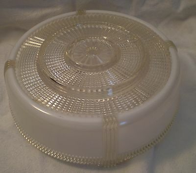 Vintage Ceiling Light Shade Frosted White Art Deco 9 inches