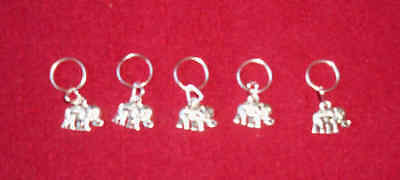 Stitch markers with Elephant Charms