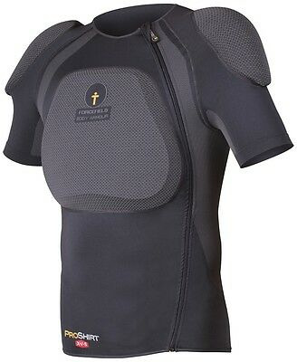 Forcefield Pro Shirt X-V-S Body Armour With Back Protector, M, Grey