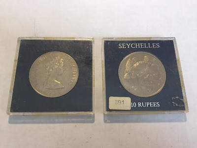 Elizabeth Seychelles 10 Rupees, 1974, Sea Turtle, LOT of 20 Coins