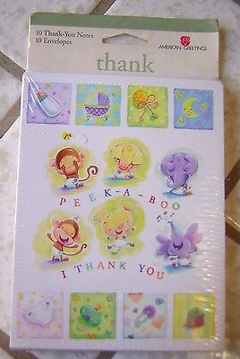 Baby Gift Thank You Note Cards ~ Very Cute ~ American Greetings ~ NEW