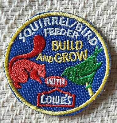 """""""SQUIRREL/BIRD FEEDER"""" LOWES Build and Grow Kids Patch"""