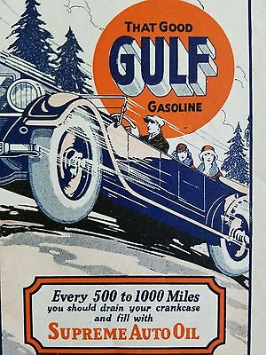 1920s Gulf Oil Road map of Pennsylvania #4