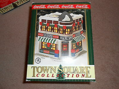 1996 Coca Cola Town Square Collection Variety Store W/ Box & Papers Retired