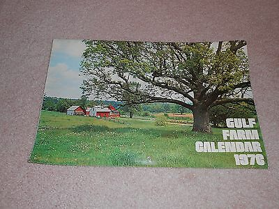1976 Gulf Oil Co. Gas & Oil Farm Calendar Nice Pictures Advertising