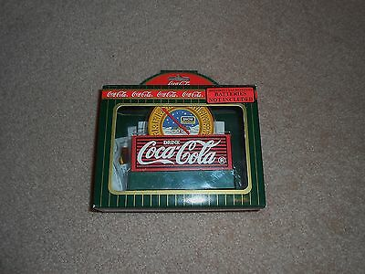 1996 Coca Cola Town Square Figurine Thermometer # 64348 Retired Advertising