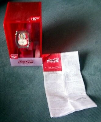 NIB Vintage Coca Cola Watch Red Band Advertising Instructions