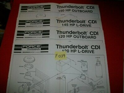 4-Force Outboards Thunderbolt Cdi Wiring Diagrams- See Pictures-Plus One Extra