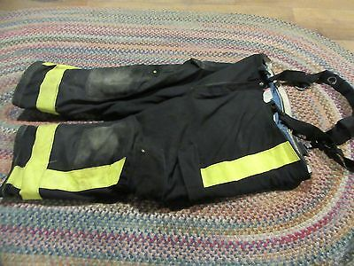 Janesville Lion Firefighter Pants & suspenders Turnout Gear S 46s zip out liner