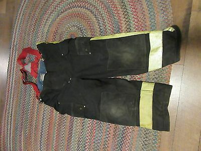 Janesville Lion Firefighter Pants & suspenders Turnout Gear S 42s heavy  liner