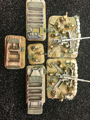 FLAMES OF WAR Heavy anti-aircraft gun platoon, 2 x 88mm  guns Pro Painted 15mm