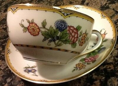 "Vintage Cup & Saucer Set Field China ""Elysian"" Floral Pattern Hand Painted Japan"