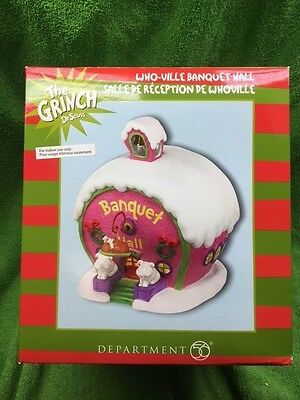 Dept. 56 THE GRINCH DR SEUSS - WHO-VILLE Banquet Hall - Retired and HARD TO FIND