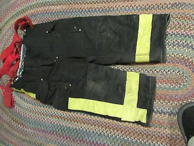 Janesville Lion Firefighter Pants & suspenders Turnout Gear S 38xs heavy  liner