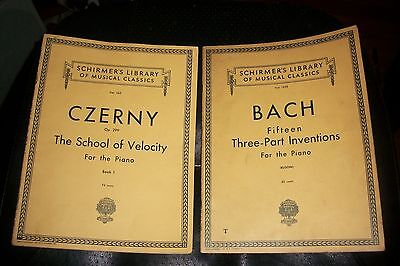 Vintage Schirmers Library Sheet Music Czerny Op 299 School Of Velocity Bach 15